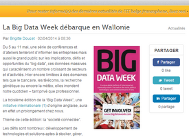 La Big Data Week débarque en Wallonie