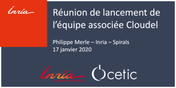 Projet Cloudel - Inria/CETIC team